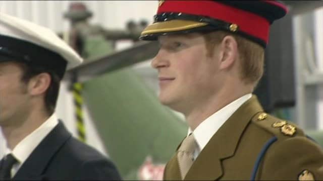 Prince Harry refers to defence cuts during graduation ceremony for new helicopter pilots ****FLASH Hampshire Middle Wallop Army Aviation Centre INT...