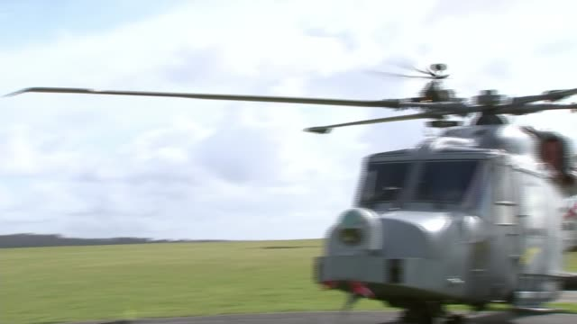 stockvideo's en b-roll-footage met prince harry refers to defence cuts during graduation ceremony for new helicopter pilots england hampshire middle wallop army aviation centre ext... - hampshire engeland