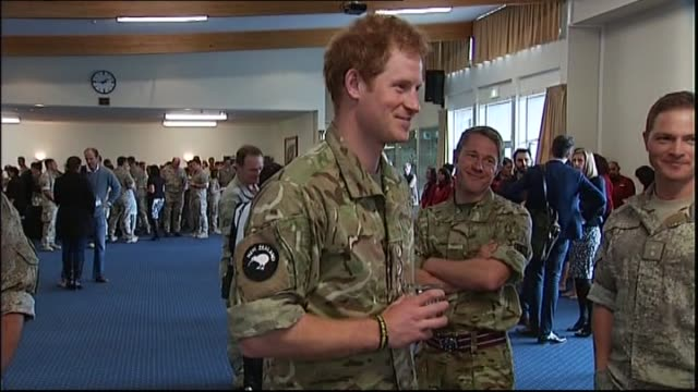 Prince Harry relating story about practicing for haka with New Zealand Army Corps members at Linton Army Camp