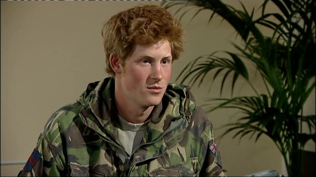 prince harry returns from afghanistan: prince harry interview; prince harry interview sot - you do what you have to do, whatever is necessary to save... - finding stock videos & royalty-free footage