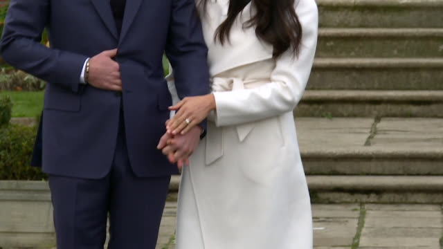 Prince Harry saying he knew fiancee Meghan Markle was 'the one' 'when he first met her' before Markle shows off the engagement ring