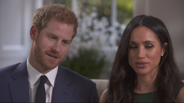 Prince Harry saying he was introduced to fiancee Meghan Markle by a mutual friend