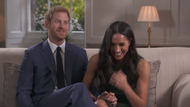 prince harry saying one step at a time but he wants to start a family with fiancee meghan markle - bbc stock videos and b-roll footage