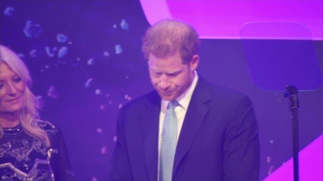 prince harry speech at wellchild awards england london paddington lancaster gate royal lancaster hotel int prince harry duke of sussex speech sot... - prince harry stock videos & royalty-free footage