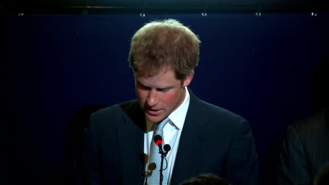 prince harry speech on queen's birthday; brazil: sao paulo: int prince harry speech sot - this is my second visit to brazil , on being in sao paulo -... - queen's birthday stock videos & royalty-free footage