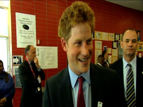 Prince Harry talks to press about his public persona during visit to US New York 30 May 2009