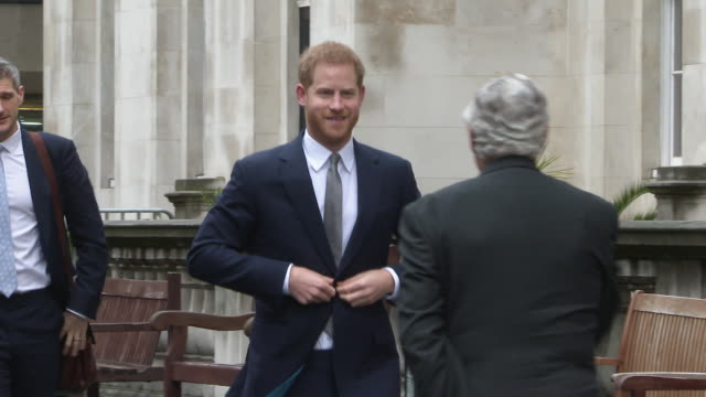prince harry the duke of sussex attends veterans' mental health conference on march 14 2019 in london united kingdom - teilnehmen stock-videos und b-roll-filmmaterial