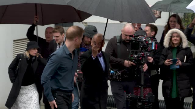 prince harry, the duke of sussex, jon bon jovi at the duke of sussex visits abbey road studios on february 28, 2020 in london, england. - royalty stock videos & royalty-free footage