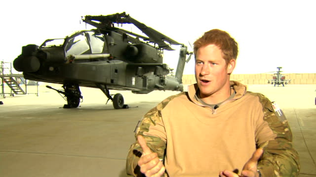 prince harry tour of duty in afghanistan prince harry interview sot is that juggling and that conflict going to become increasingly more difficult as... - afghanistan stock videos & royalty-free footage