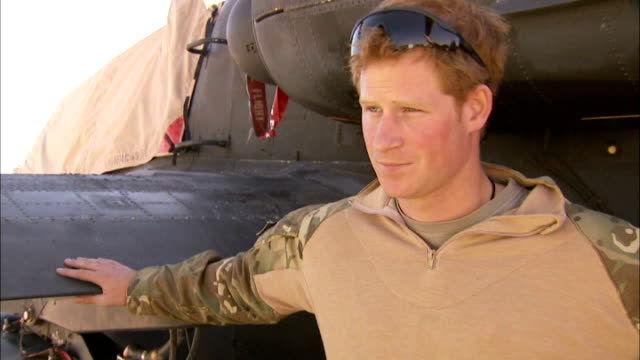 vídeos y material grabado en eventos de stock de prince harry tour of duty in afghanistan; prince harry sot re: about his job and the situation in afghanistan? - the aircraft does what it says on... - number 9