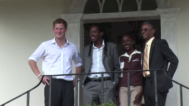 prince harry tours falmouth on march 07 2012 in kingston jamaica - emma brumpton stock videos & royalty-free footage