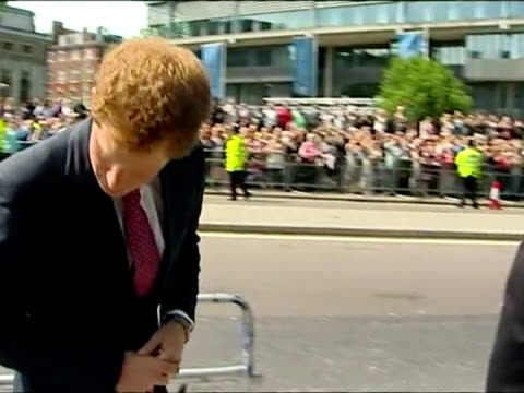 prince harry unveiling memorial plaque to commemorate queen elizabeths 60th anniversary of her coronation prince harry unveiling 60th anniversary... - memorial plaque stock videos and b-roll footage