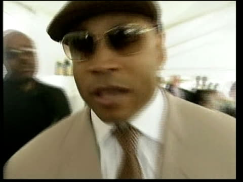 plays in polo match harry chatting with male guest / glasses of champagne on tray ll cool j interview sot on polo first polo match haven't met prince... - ll cool j stock videos and b-roll footage