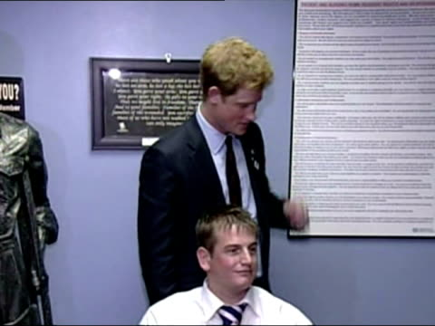 Prince Harry visits a Veterans' Hospital in New York