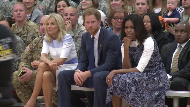 prince harry visits fort belvoir, virginia to launch the american edition of the invictus games for wounded warriors, with first lady michele obama... - 2015 stock videos & royalty-free footage