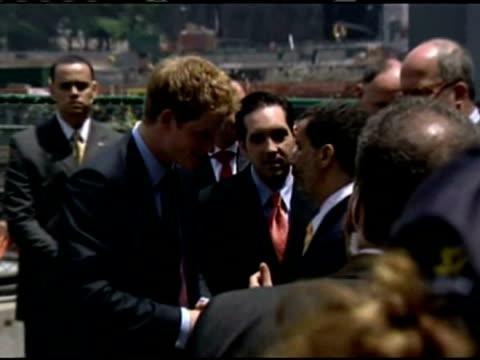 Prince Harry visits Ground Zero
