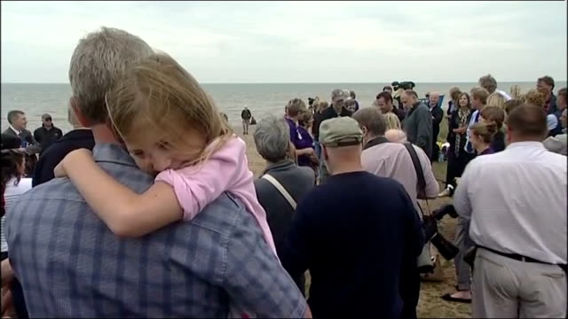 prince harry visits sizewell beach to welcome team recreating 1941 escape from nazioccupied holland england suffolk sizewell ext long shots prince... - st lucia stock videos & royalty-free footage