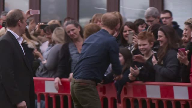 prince harry walking with wounded visit prince harry walking with wounded visit england tyne and wear gateshead ext prince harry out of car / prince... - gateshead stock videos and b-roll footage