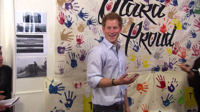 Prince Harry's come face to face with what effectively are New Zealand's royalty the All Blacks rugby players The Prince was in a cheeky mood as he...