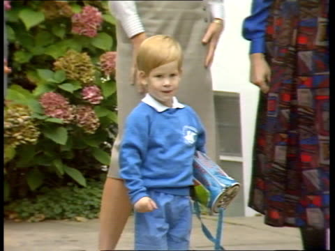 prince harry's hernia tx cms prince harry standing and waves as princess of wales and nanny next pull out princes charles and william - hernia stock videos and b-roll footage