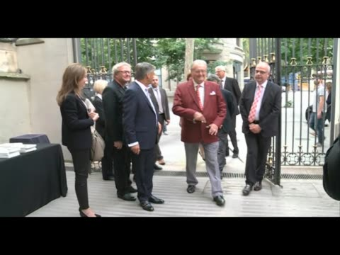 prince henrik of denmark attends reading of his 'fabula' book in barcelona - denmark stock videos & royalty-free footage