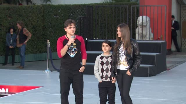 prince jackson paris jackson and blanket jackson at michael jackson immortalized with hand and footprint ceremony in hollywood ca on 1/26/2012 - michael jackson stock videos and b-roll footage