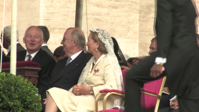 Prince of Liechtenstein Hans Adam II Queen Paola and King Albert II of Belgium The Beatification of Pope John Paul II at Saint Peter's Square on May...
