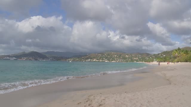 prince of wales and duchess of cornwall grenada beach walkabout grenada st george's ext gvs beach / prince charles prince of wales and camilla... - st. george's grenada stock videos and b-roll footage