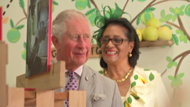 prince of wales and duchess of cornwall visit grenada grenada st george's gvs chocolate on sale / various of prince charles camilla duchess of... - st. george's grenada stock videos and b-roll footage
