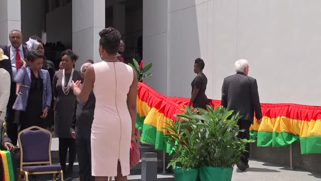 prince of wales and duchess of cornwall visit grenada grenada st george's keith mitchell outside parliament building with mps / prince charles and... - st. george's grenada stock videos and b-roll footage