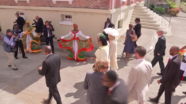 prince of wales and duchess of cornwall visit grenada grenada st george's prince charles and camilla along on walkabout with cecile la grenade /... - st. george's grenada stock videos and b-roll footage