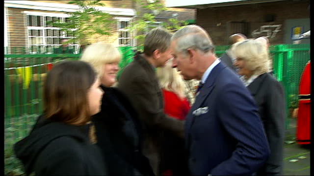 prince of wales and duchess of cornwall visit london community projects england london bethnal green hollybush estate throughout*** gvs residents... - bethnal green stock videos & royalty-free footage