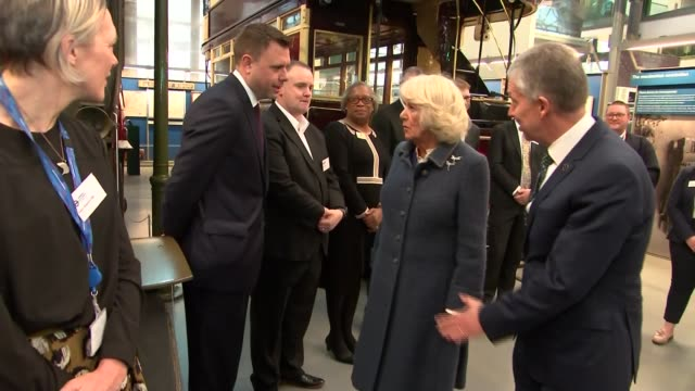 prince of wales and duchess of cornwall visit london transport museum england london covent garden london transport museum photography** **harp... - harp stock videos & royalty-free footage