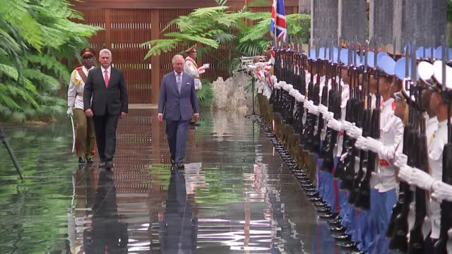 prince of wales and duchess of cornwall visit president's palace cuba havana palacio de la revolucion prince charles and miguel diazcanel stood for... - british royalty stock videos & royalty-free footage