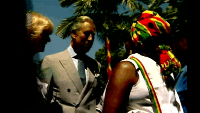 prince of wales and duchess of cornwall visiting bob marley centre in jamaica prince charles and camilla from car and greeting rita marley as calypso... - calypso stock videos and b-roll footage