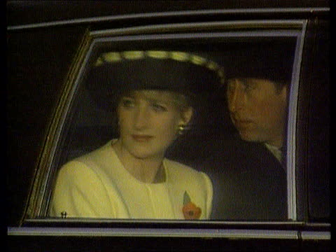 bong diana princess of wales and prince charles sitting in car lib - biography stock videos & royalty-free footage