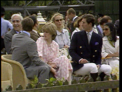 Prince of Wales biography row LIB Berkshire Windsor Prince Charles sitting next Diana at polo match