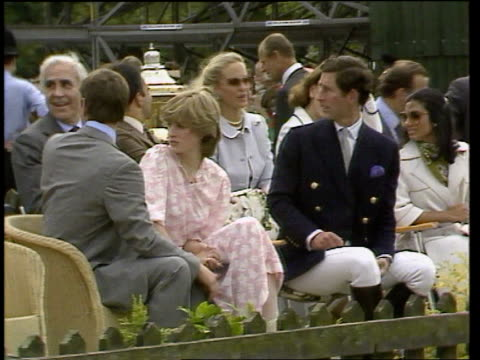 prince of wales biography row lib ext prince charles sitting next diana princess of wales at polo match - biography stock videos & royalty-free footage