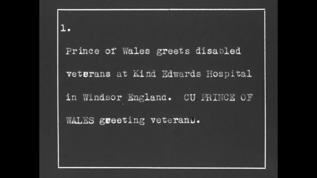 prince of wales chats with disabled veterans at king edward vii hospital / cu of prince of wales talking to a patient / note exact month/day not known - prince stock videos and b-roll footage