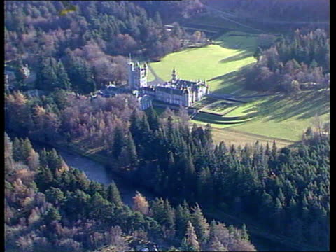 prince of wales' dog missing airv balmoral estate and river dee - grounds stock videos & royalty-free footage