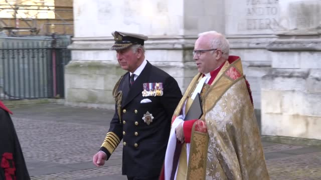 prince of wales, duke of cambridge, the earl and countess of wessex depart westminster abbey following a service for sir donald gosling. - royalty stock videos & royalty-free footage