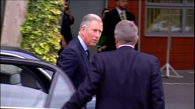 prince of wales meets schoolchildren receiving lessons as oval cricket ground; england: london: kennington: ext rear of stand at the oval cricket... - oval kennington stock videos & royalty-free footage