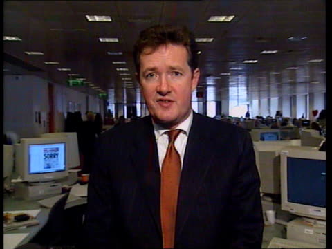 prince of wales press complaint; f)ltn: dermot murnaghan itn england: london: int piers morgan interview sot - being pilloried for a story we did not... - dermot murnaghan stock videos & royalty-free footage