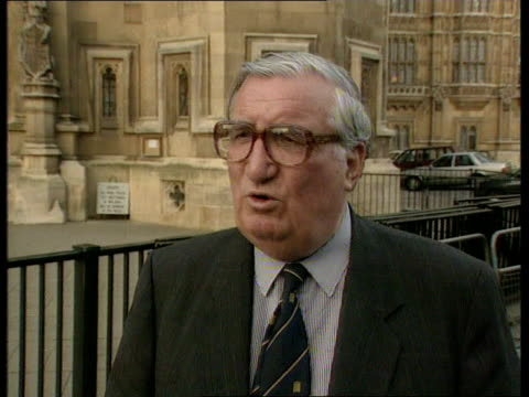 prince of wales tv interview; london lms members of conservative constitutional affairs cttee towards out of parliament pull out cms james hill mp... - david dimbleby stock videos & royalty-free footage
