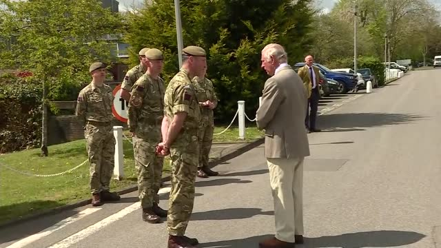 prince of wales visits the welsh guards; england: berkshire: windsor: ext prince charles, prince of wales addressing troops sot - of course you know... - war and conflict stock videos & royalty-free footage