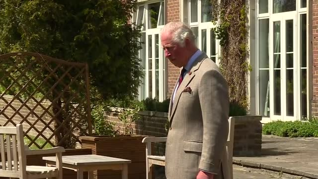 prince of wales visits the welsh guards; england: berkshire: windsor: ext various shots of prince charles, prince of wales greeting soldiers in... - cheerful stock videos & royalty-free footage