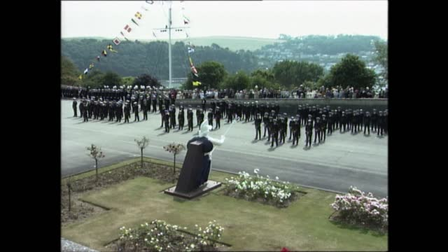 prince philip at royal naval college dartmouth; part 4 of 7 england: devon: dartmouth: britannia royal naval college: ext prince philip, duke of... - cadet stock videos & royalty-free footage