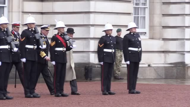 prince philip begins his final official royal engagement at buckingham palace. he is at the captain general's parade, meeting royal marines who have... - royal marines stock videos & royalty-free footage