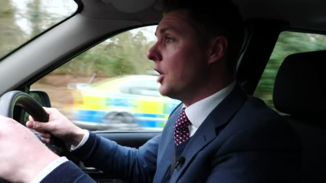 Police investigating incident ENGLAND Norfolk Sandringham Land Rover car towards Reporter to camera EXT Land Rover car towards junction Reporter to...