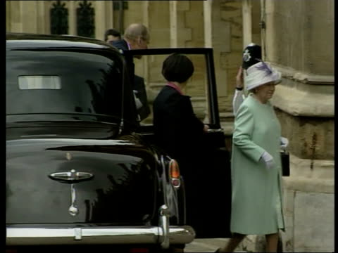 prince philip celebrates 80th birthday at windsor c1300 libby windsor st george's chapel prince harry along with other young royal family members as... - st. george's chapel stock videos and b-roll footage